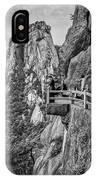 5807- Yellow Mountains Black And White IPhone Case