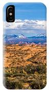 Canyon Badlands And Colorado Rockies Lanadscape IPhone Case