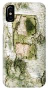 Detail Of Brich Bark Texture IPhone Case