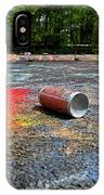 Discarded Spray Paint Can IPhone Case