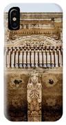 Noto, Sicily, Italy - Detail Of Baroque Balcony, 1750 IPhone Case
