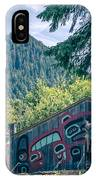 Totems Art And Carvings At Saxman Village In Ketchikan Alaska IPhone Case