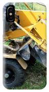 Tree Stump Machine. IPhone Case