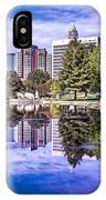 Charlotte City North Carolina Cityscape During Autumn Season IPhone Case