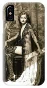 Vintage Nude Postcard Image IPhone Case