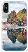 Charlotte North Carolina Cityscape During Autumn Season IPhone Case