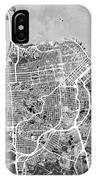 San Francisco City Street Map IPhone X Case