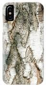Detail Of Brich Bark Texture IPhone Case