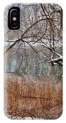 The Bass River In Winter IPhone Case