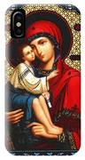 Virgin And Child Icon Religious Art IPhone Case