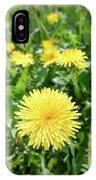 Yellow Dandelion Flowers IPhone Case