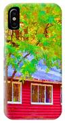 A Beautiful Country Building In The Fall 1 IPhone Case