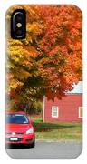 A Beautiful Country Building In The Fall 4 IPhone Case