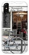 A Bicycle In Paris IPhone Case