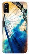 A Big Wheel Roller Coaster Ride Under A Sunset IPhone Case