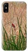A Bit Of Red IPhone Case