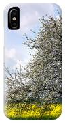 A Blooming Tree In A Rapeseed Field IPhone Case