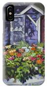 A Boat Load Of Zinnias IPhone Case