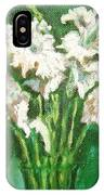 A Bunch Of White Gladioli IPhone Case