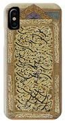 A Calligraphic Album Page IPhone Case