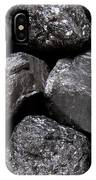 A Close View Of Coal Ready For Burning IPhone Case