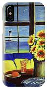 A Coastal Window Lighthouse View IPhone Case