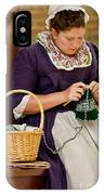 A Colonial Lady Knits IPhone Case