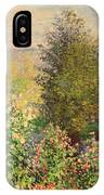 A Corner Of The Garden At Montgeron IPhone Case
