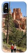 A Couple Hikes Along A Trail In Bryce IPhone Case