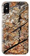 A Crack On A Brown Stone Block IPhone Case