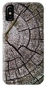 A Cut Above - Patterns Of A Tree Trunk Sliced Across IPhone Case