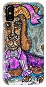 A Dachshund Easter IPhone Case