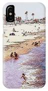 A Day At The Beach - Colored Pens Effect IPhone Case