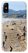 A Day At The Beach In Santa Monica IPhone Case