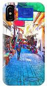 A Digitally Constructed Painting Of Cobbled Back Streets Of Kaleici In Antalya Turkey IPhone Case