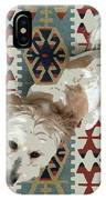 A Dog In On A Rug IPhone Case