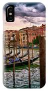 Surreal Seascape On The Grand Canal In Venice, Italy IPhone Case