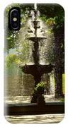 A Fountain In A St. Paul Park IPhone Case