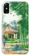 A Pavement And A Shade In A Garden IPhone Case