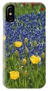 A Garden Of Colorful Tulips And Grape IPhone Case