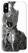 A Gibson Girl With Parasol IPhone Case