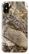 A Great Horned Owl's Wide Eyes IPhone Case