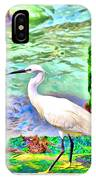 a heron is walking on a stair about the Grand Canal IPhone Case