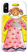 A Is For Angel IPhone Case