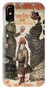 A La Tour St.jacques - Rue De Rivoli - Vintage Fashion Advertising Poster - Paris, France IPhone Case
