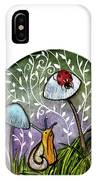 A Little Chat-ladybug And Snail IPhone Case