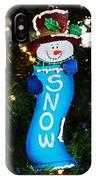 A Long Snow Ornament- Horizontal IPhone Case