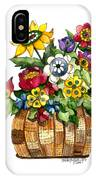 A Lovely Basket Of Flowers IPhone Case