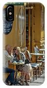 A Man A Woman A French Cafe IPhone X Case
