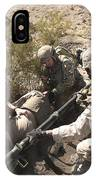 A Medic Treats Injuries On A Downed IPhone Case